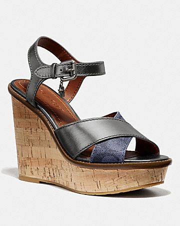 19422eb44 CROSS BAND HIGH WEDGE SANDAL ...