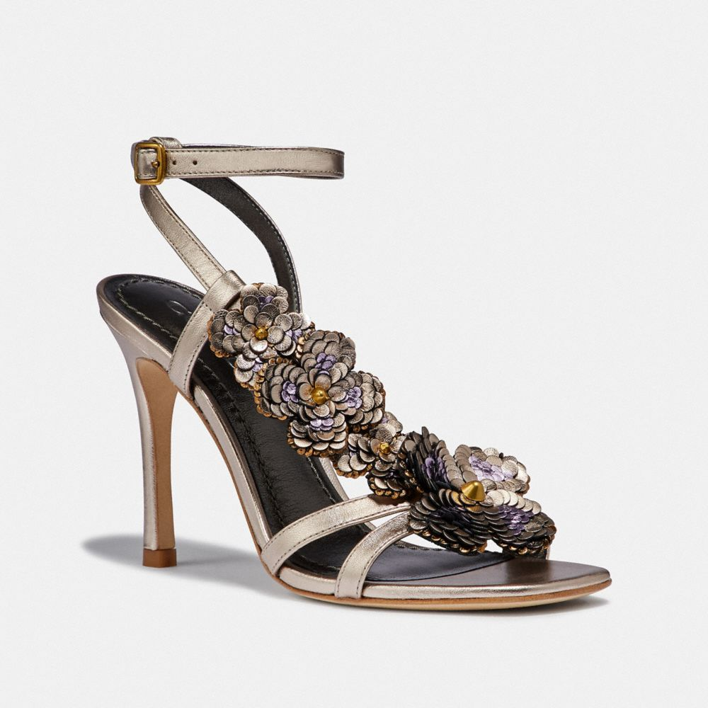 Coach BIANCA SANDAL WITH LEATHER PAILLETTES