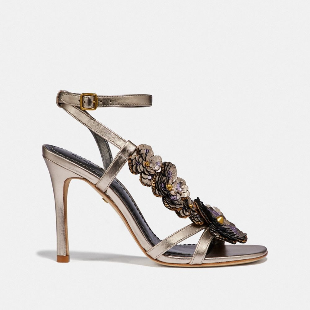 Coach BIANCA SANDAL WITH LEATHER PAILLETTES Alternate View 1
