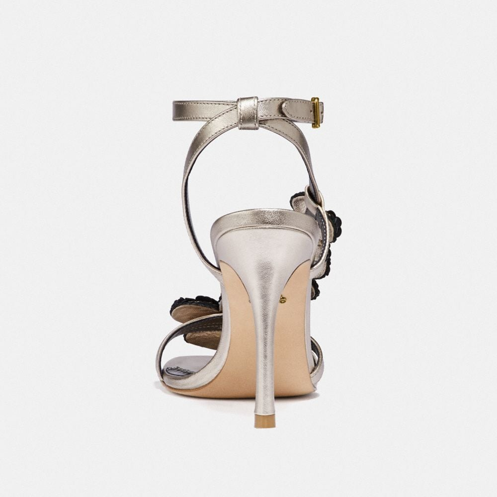 Coach BIANCA SANDAL WITH LEATHER PAILLETTES Alternate View 3