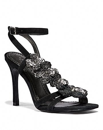 BIANCA SANDAL WITH LEATHER PAILLETTES