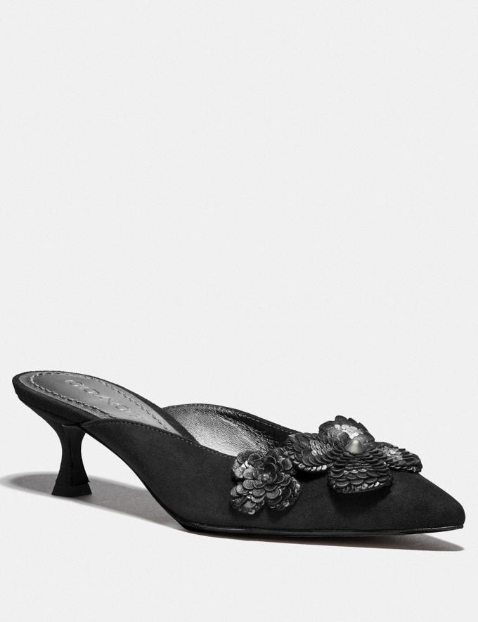 Coach Kailee Mule With Paillettes Black Women Shoes Heels