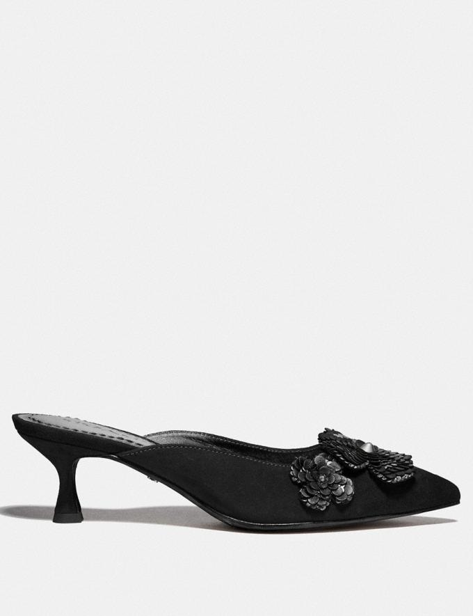 Coach Kailee Mule With Paillettes Black  Alternate View 1