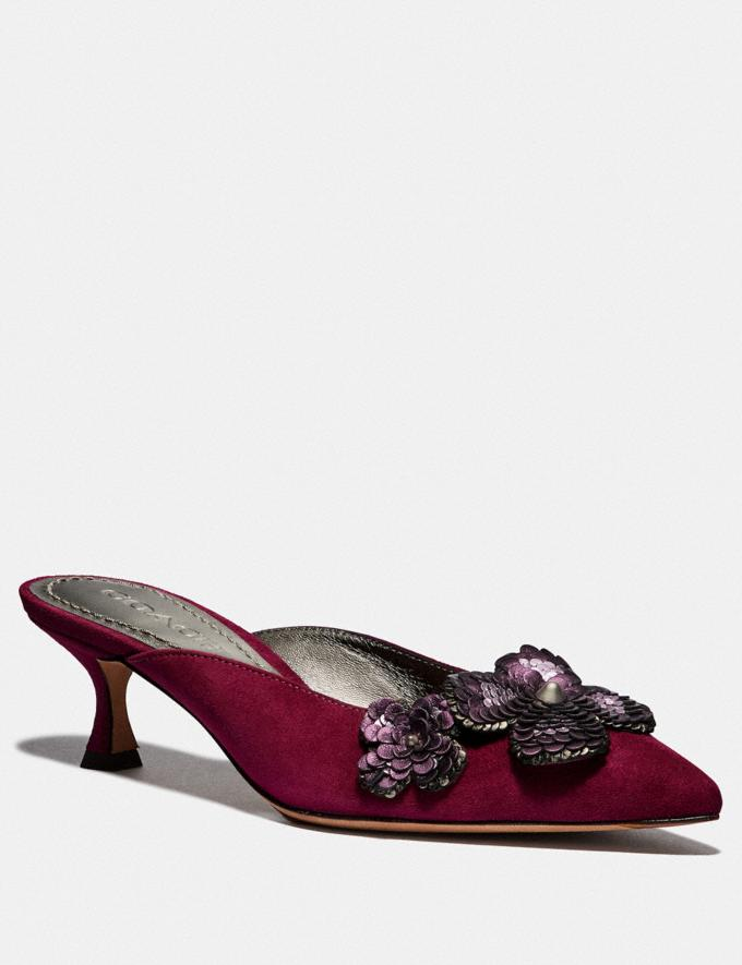 Coach Kailee Mule With Paillettes Dark Berry CYBER MONDAY SALE Women's Sale 40 Percent Off