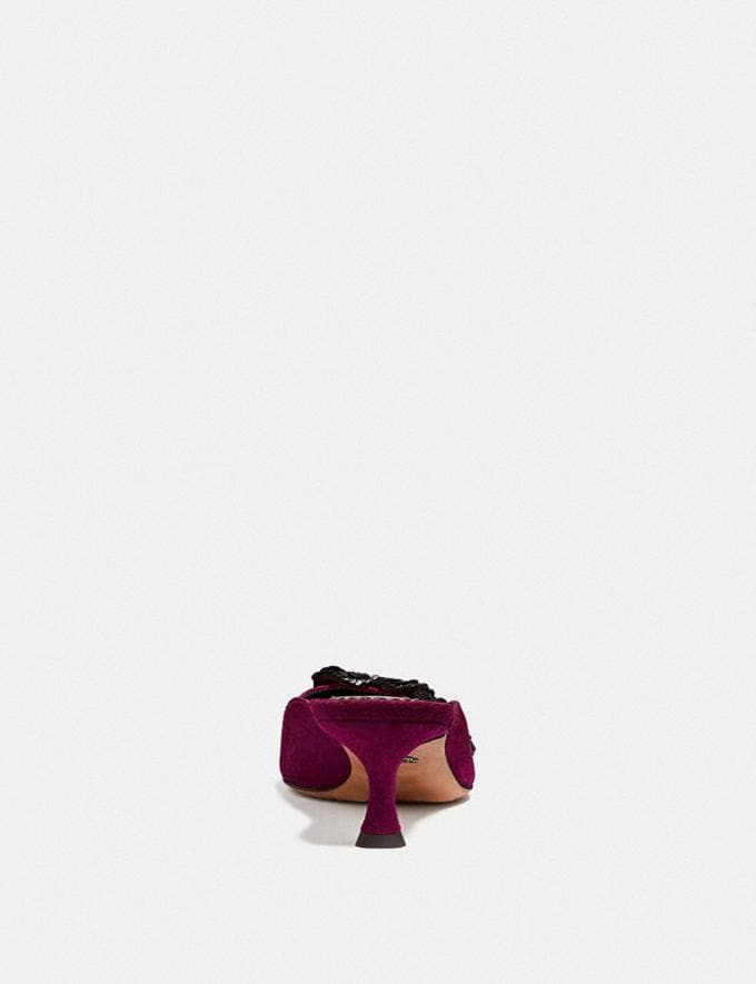 Coach Kailee Mule With Paillettes Dark Berry  Alternate View 3
