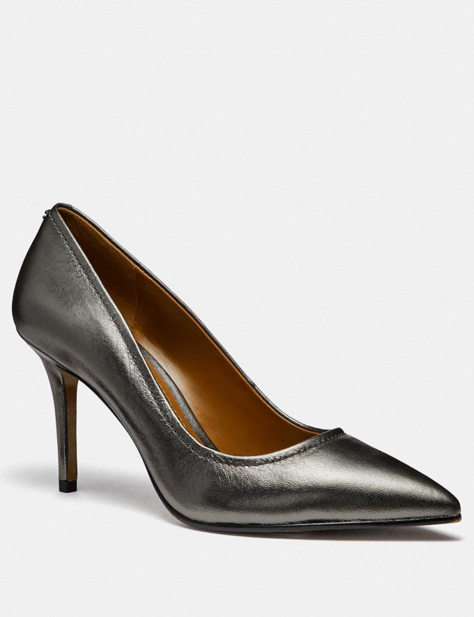 Coach Waverly Pump Gunmetal Women Shoes Heels