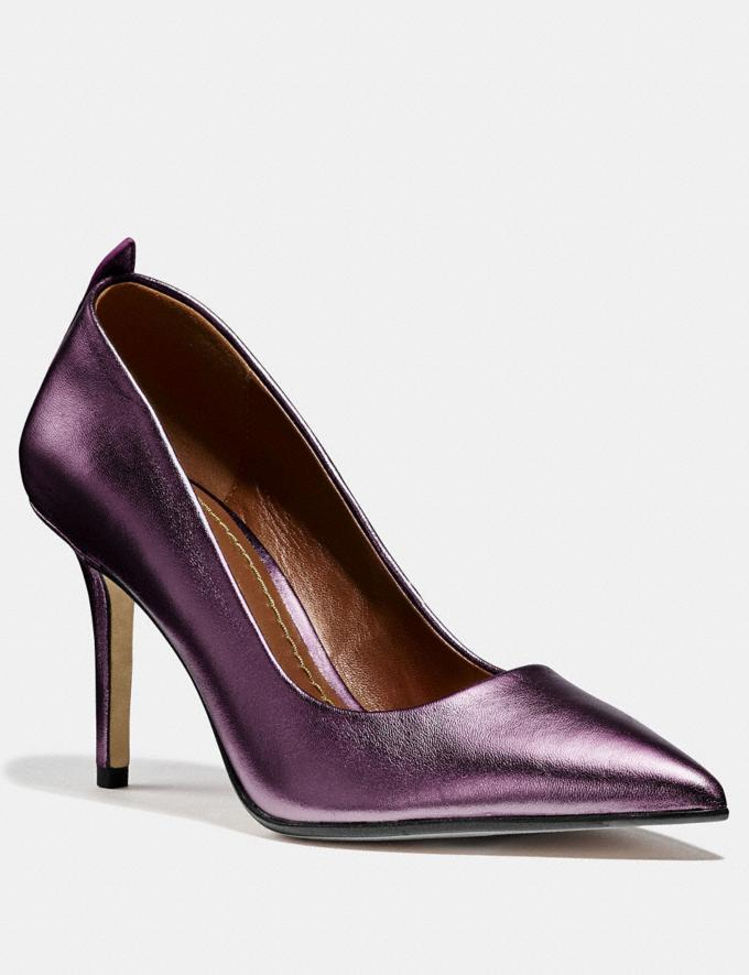 Coach Waverly Pump Plum CYBER MONDAY SALE Women's Sale 40 Percent Off
