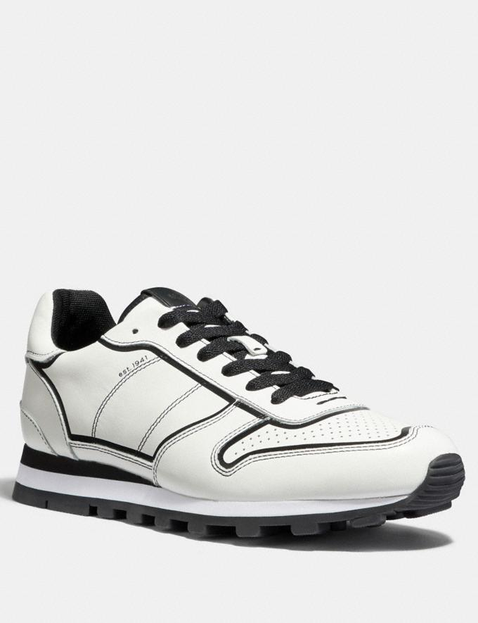 Coach C118 Runner White/Black Men Shoes