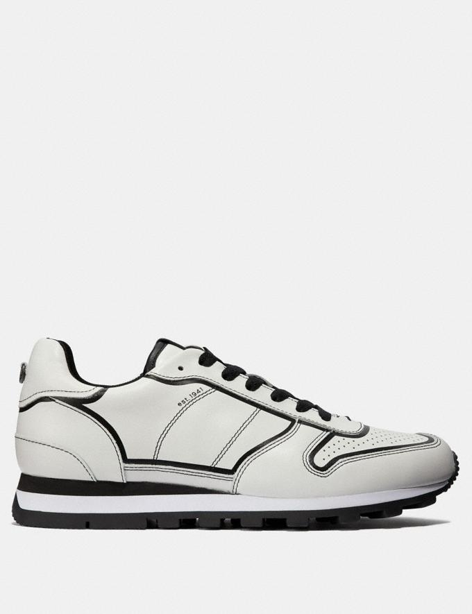 Coach C118 Runner White/Black Men Shoes Alternate View 1