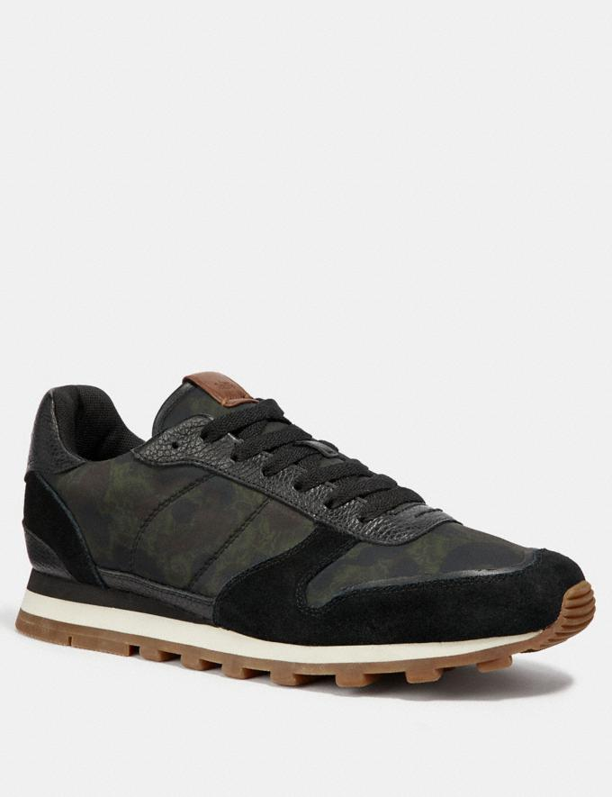 Coach C118 Runner Wild Beast Floral/Black Men Shoes Trainers