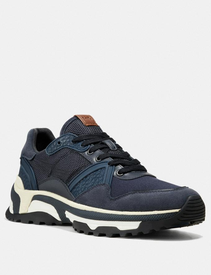 Coach C143 Runner Navy Men Shoes Sneakers