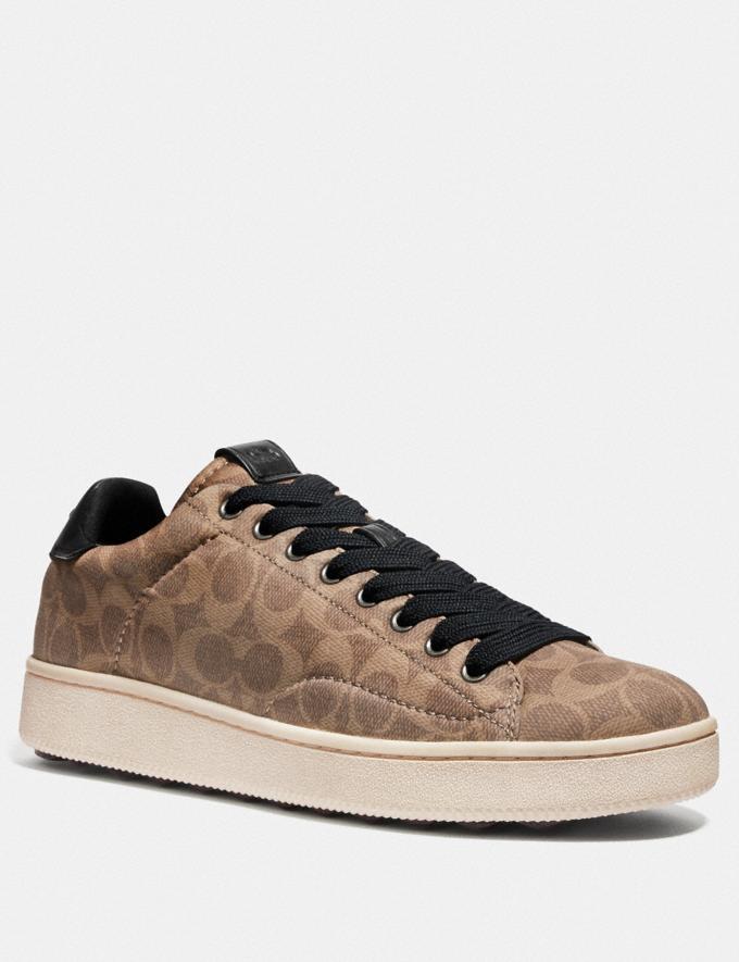 Coach C101 Low Top Sneaker Khaki New Men's New Arrivals Shoes