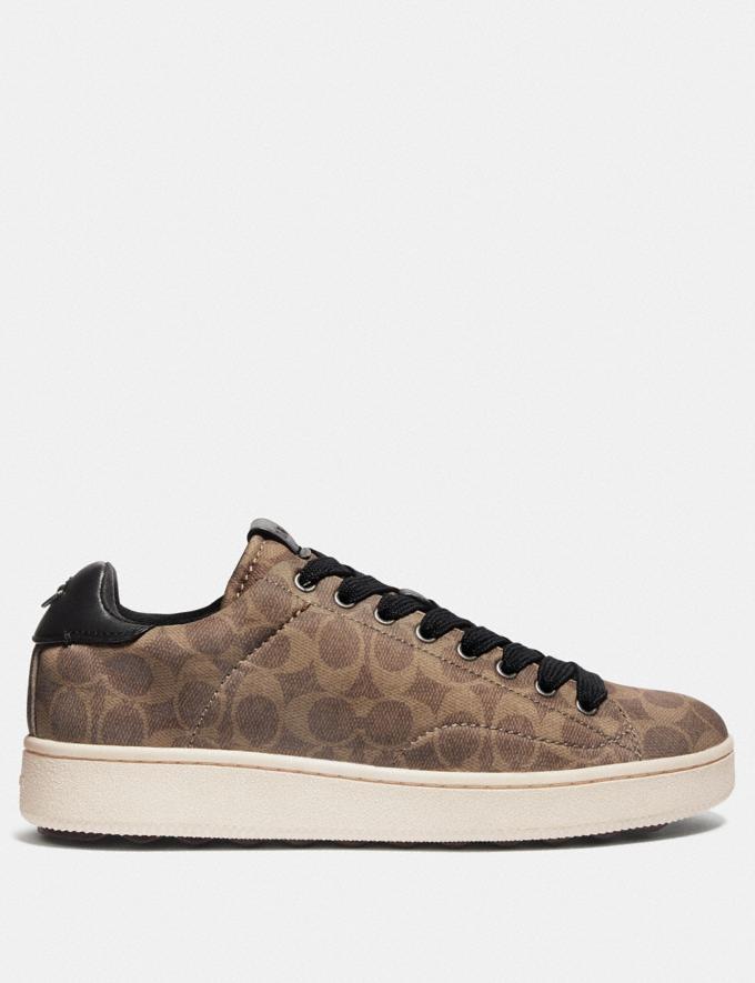 Coach C101 Low Top Sneaker Khaki  Alternate View 1