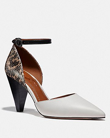 WYNNE ANKLE STRAP D'ORSAY WITH SNAKESKIN DETAIL