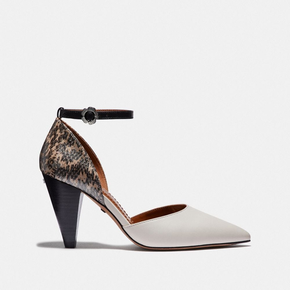 Coach WYNNE ANKLE STRAP D'ORSAY WITH SNAKESKIN DETAIL Alternate View 1