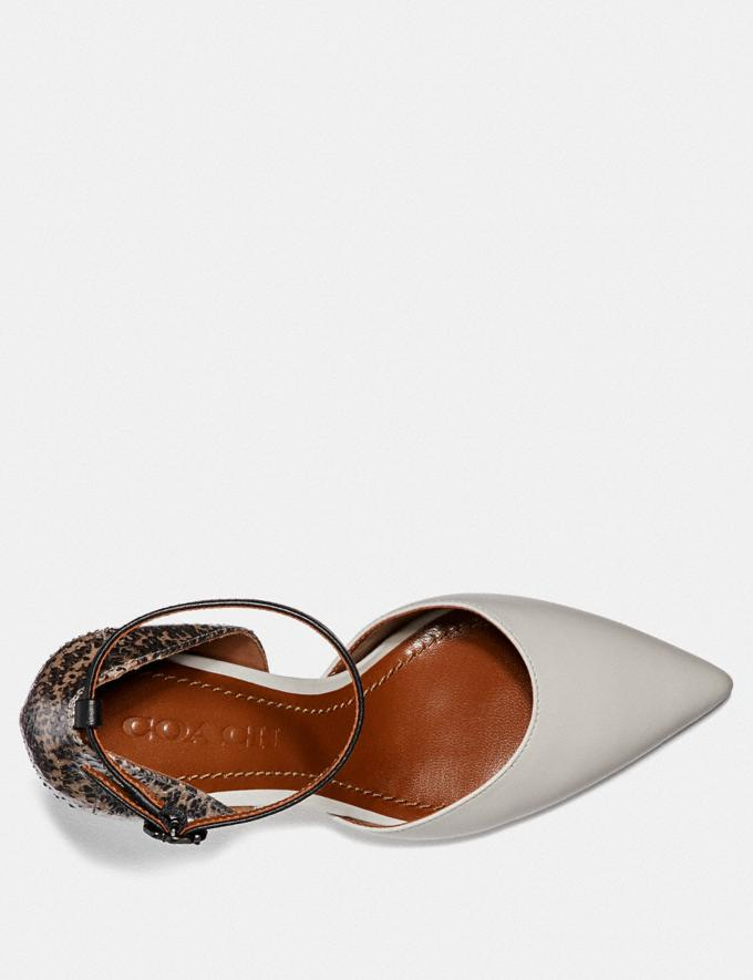 Coach Wynne Ankle Strap D'Orsay With Snakeskin Detail Chalk/Natural SALE Women's Sale Shoes Alternate View 2