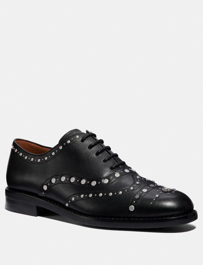 Coach Tegan Oxford With Studs Black