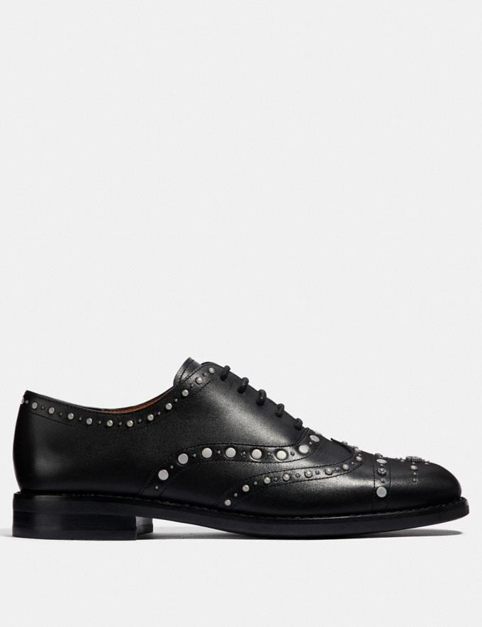 Coach Tegan Oxford With Studs Black  Alternate View 1