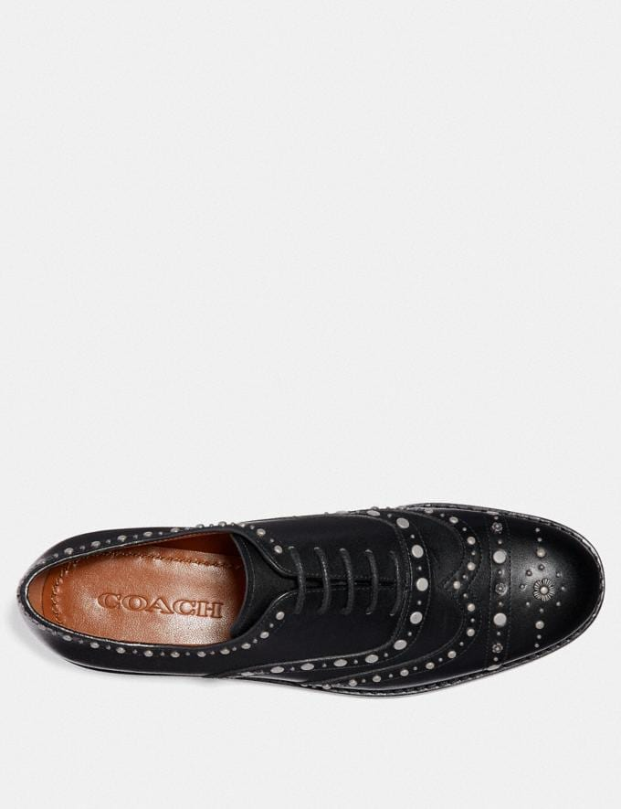 Coach Tegan Oxford With Studs Black  Alternate View 2