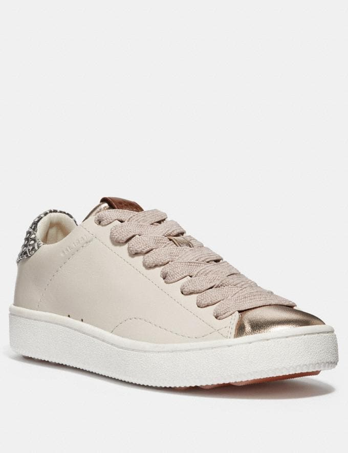 Coach C101 With Snakeskin Detail Chalk/Natural