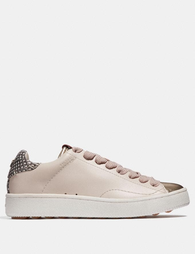 Coach C101 With Snakeskin Detail Chalk/Natural  Alternate View 1