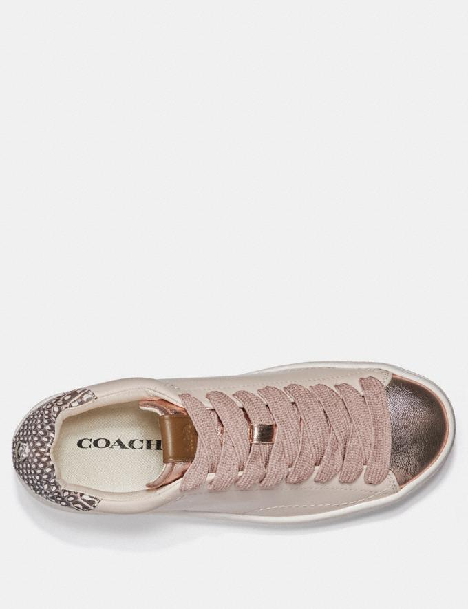 Coach C101 With Snakeskin Detail Chalk/Natural  Alternate View 2