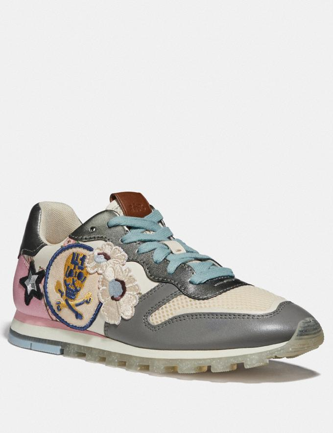 Coach C118 With Mini Vintage Rose Print Chalk/Gunmetal SALE For Her Shoes