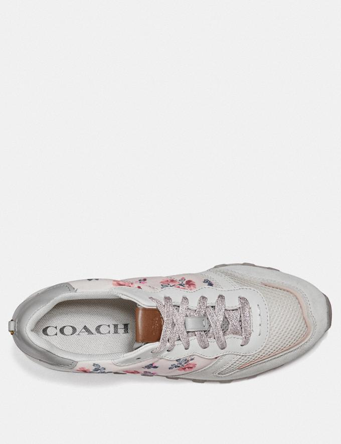 Coach C118 With Mini Vintage Rose Print Blush/Chalk Women Shoes Trainers Alternate View 2