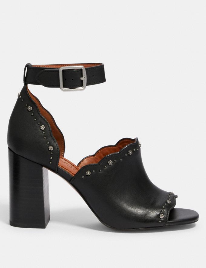 Coach Marnie Con Tacco Quadrato E Borchie Rosa Tea Nero Donna Calzature Scarpe con tacco Visualizzazione alternativa 1