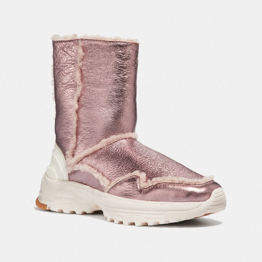 Portia Shearling Boots in Pink/Pink