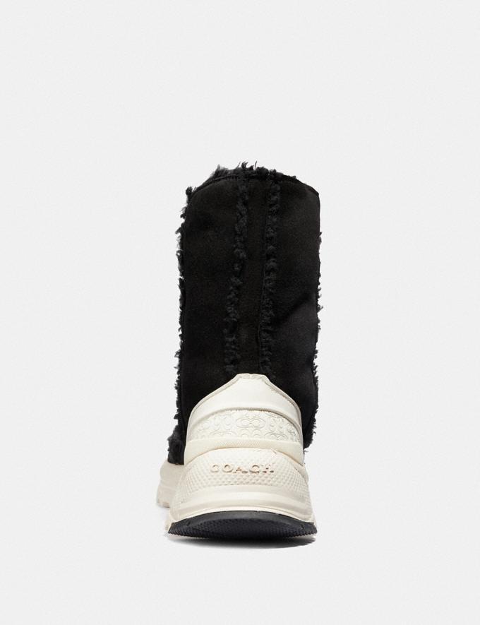 Coach Portia Cold Weather Bootie Black/Black Women Shoes Boots Alternate View 3
