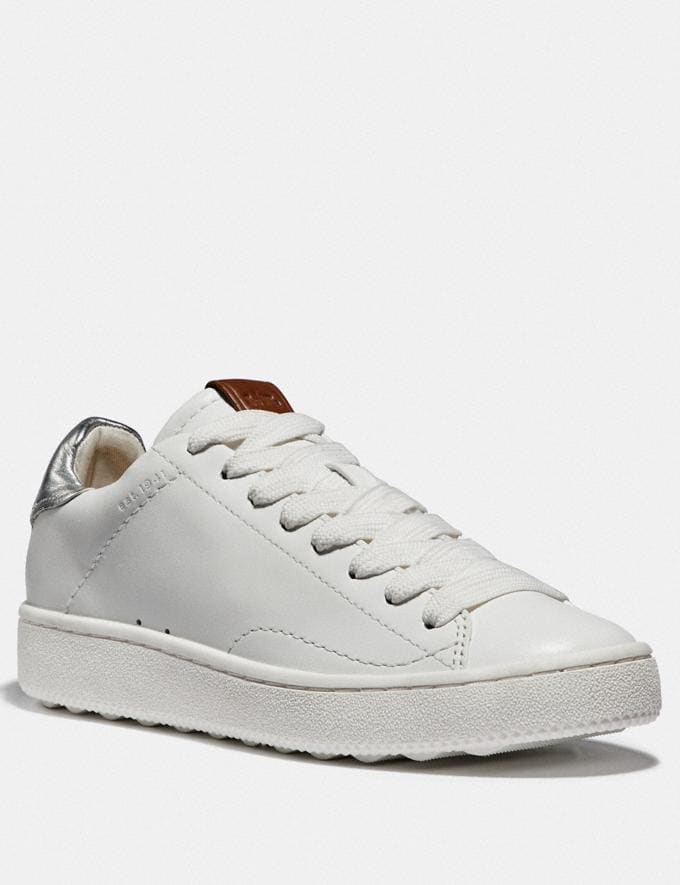 Coach C101 Low Top Sneaker White/Silver