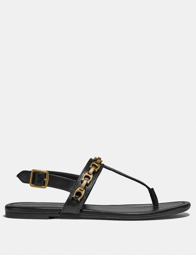 Coach Jenna Sandal Black Women Shoes Flats Alternate View 1