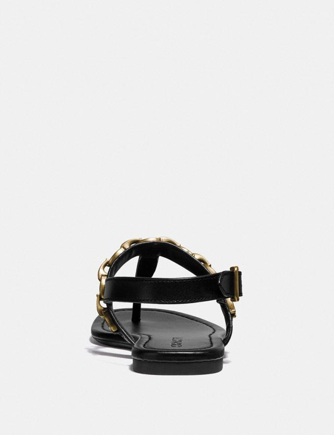 Coach Jenna Sandal Black Women Shoes Flats Alternate View 3