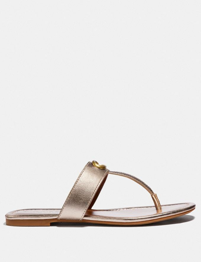 Coach Jessie Sandal Champagne  Alternate View 1