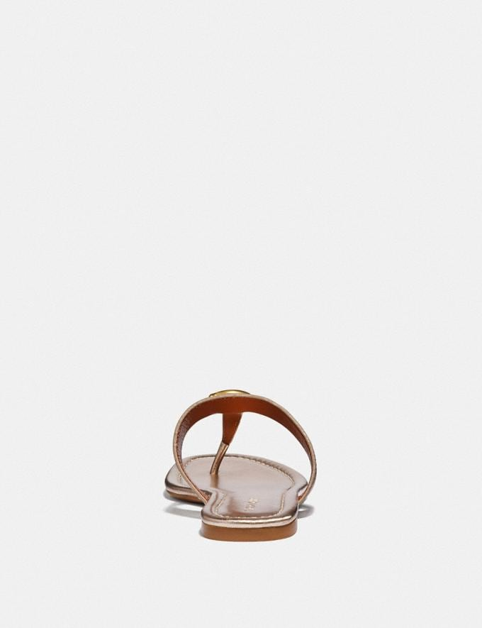 Coach Jessie Sandal Champagne  Alternate View 3