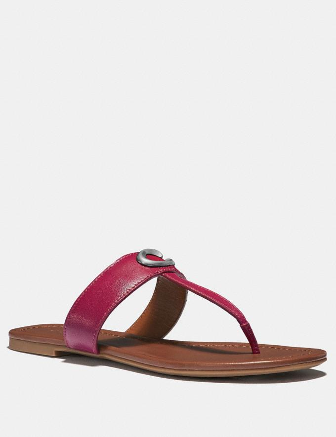 Coach Jessie Sandal Bright Cherry SALE Women's Sale Shoes