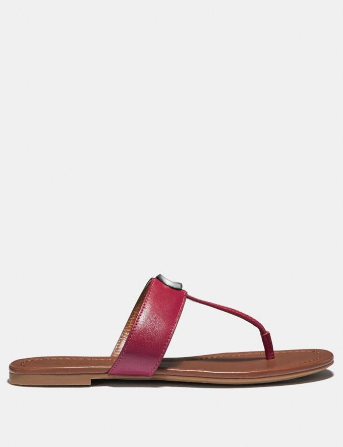 Coach Jessie Sandal Bright Cherry SALE Women's Sale Shoes Alternate View 1