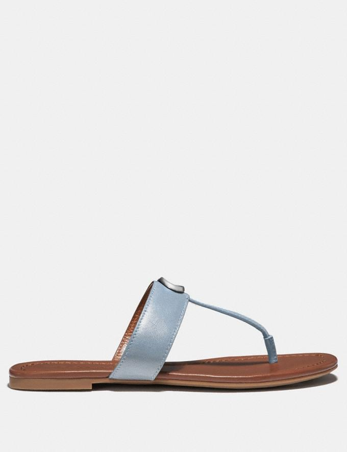 Coach Jessie Sandal Mist Women Shoes Flats Alternate View 1