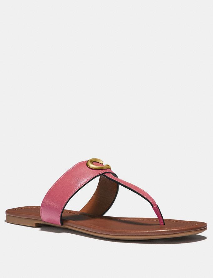 Coach Jessie Sandal Orchid Damen Schuhe Flache Schuhe