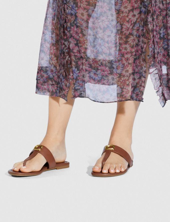 Coach Jessie Sandal Black SALE Women's Sale Shoes Alternate View 4