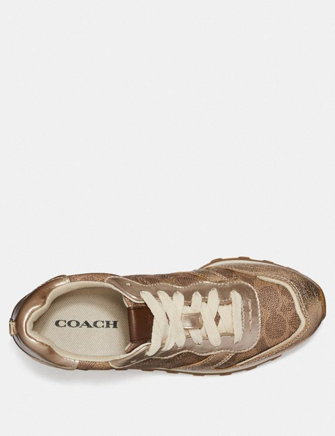Coach C118 Tan/Champagne Women Shoes Trainers Alternate View 2