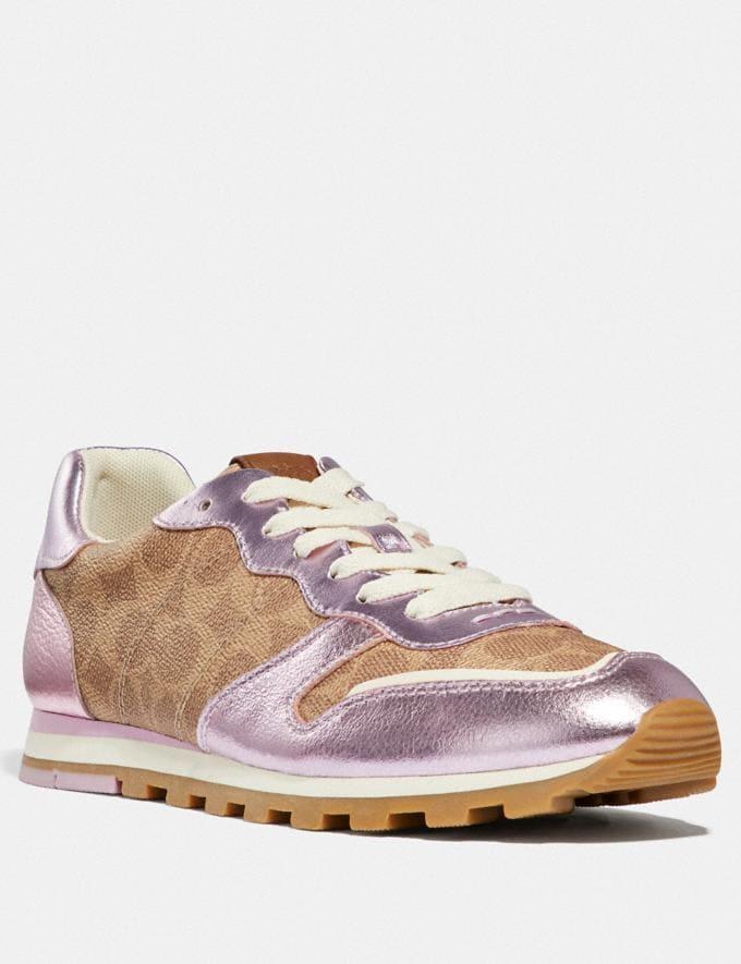 Coach C118 Tan/Pink Friends & Family Sale Women's Shoes