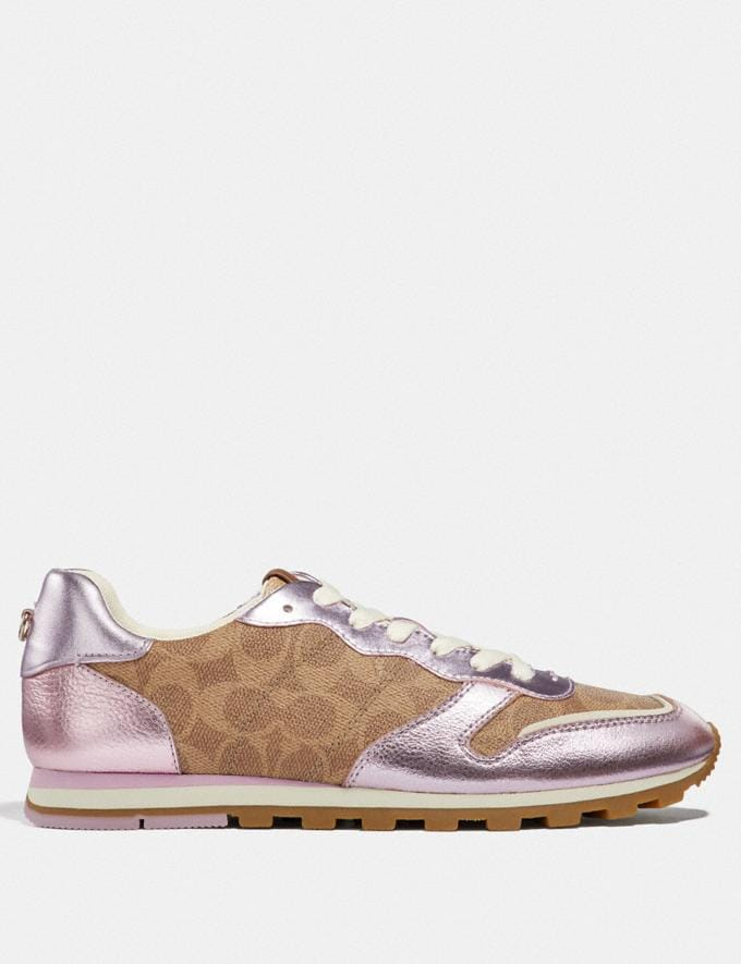 Coach C118 Tan/Pink Friends & Family Sale Women's Shoes Alternate View 1