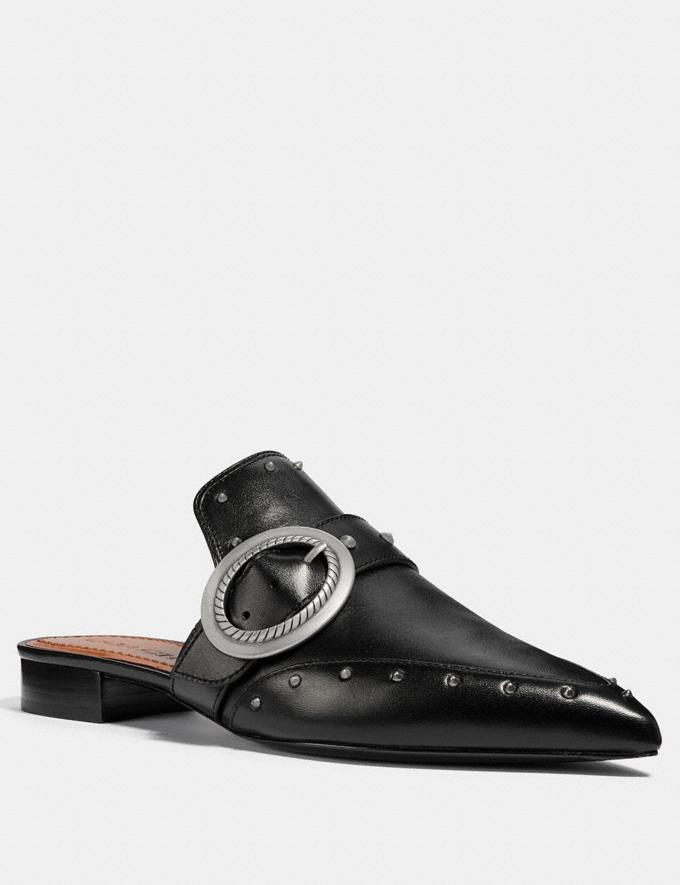 Coach Nikka Slide Black Women Shoes Flats