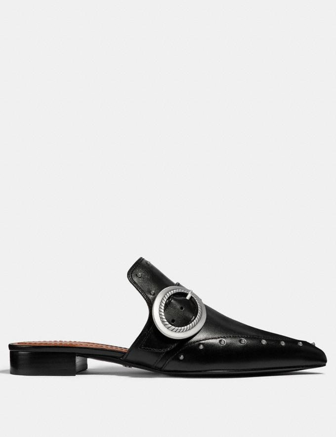 Coach Nikka Slide Black Women Shoes Flats Alternate View 1