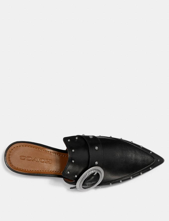 Coach Nikka Slide Black Women Shoes Flats Alternate View 2