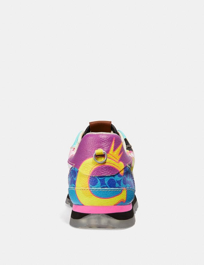Coach C118 by Dong Jin Green Multi/Purple Women Shoes Trainers Alternate View 3