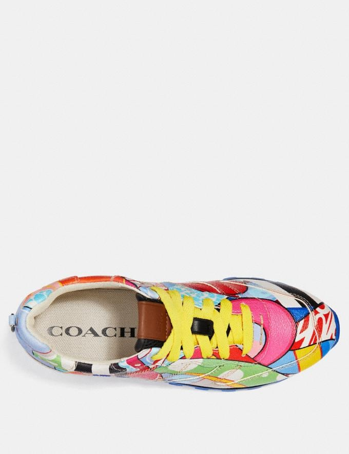 Coach C118 by Eric Inkala Blue Multi/Yellow CYBER MONDAY SALE Women's Sale 40 Percent Off Alternate View 2