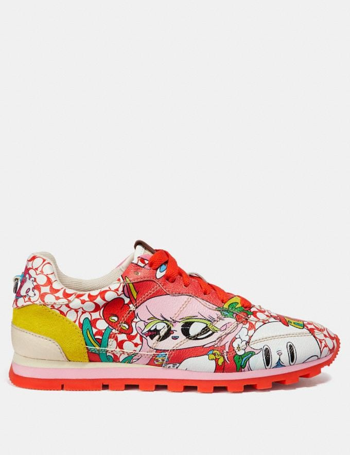 Coach C118 by Sawako Kageyama Red Multi/ Red SALE Men's Sale Shoes Alternate View 1